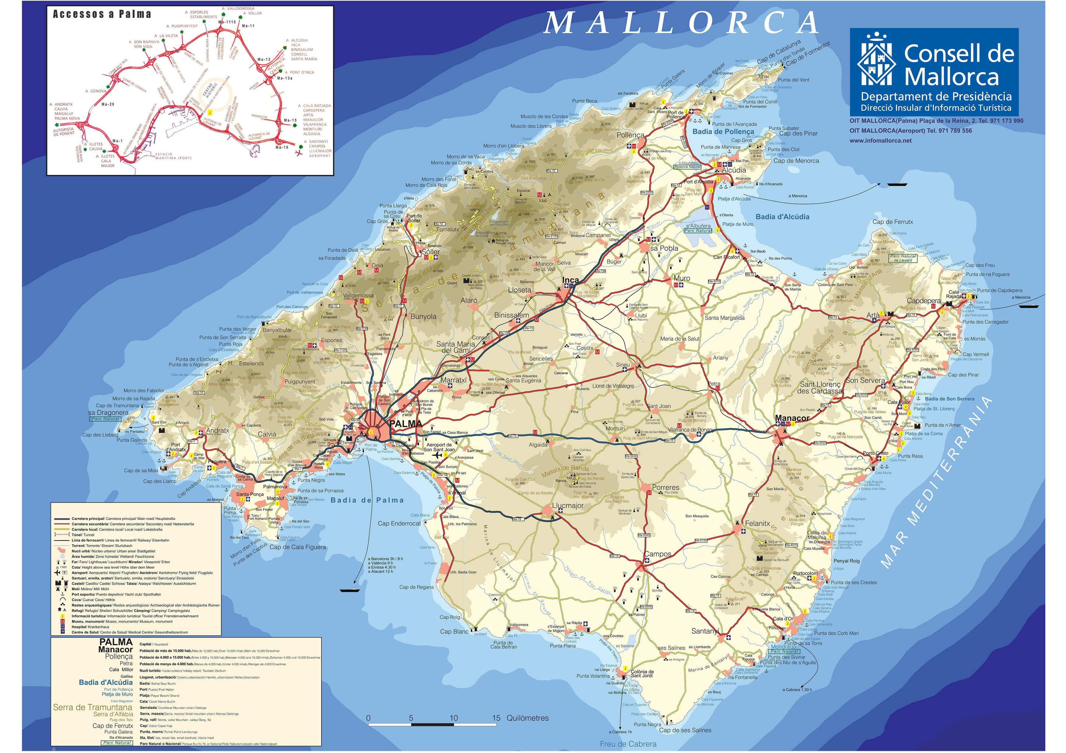 stadtplan von majorca detaillierte