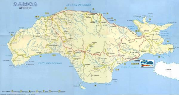 Kart Over Samos Hellas Kart