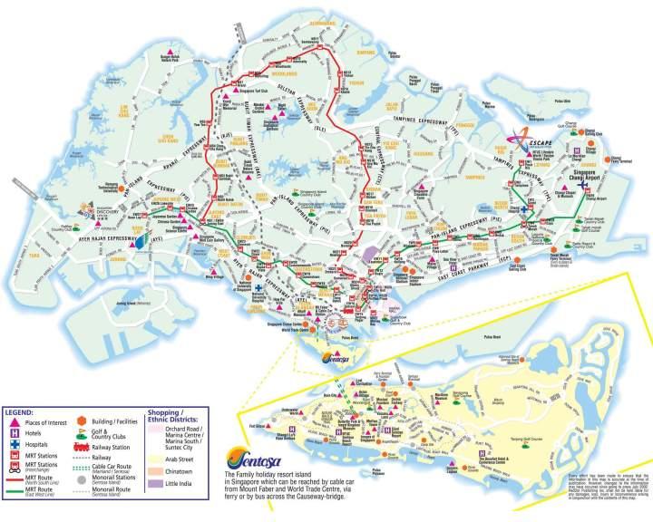 Singapore City Tourist Map   Joshymomo org