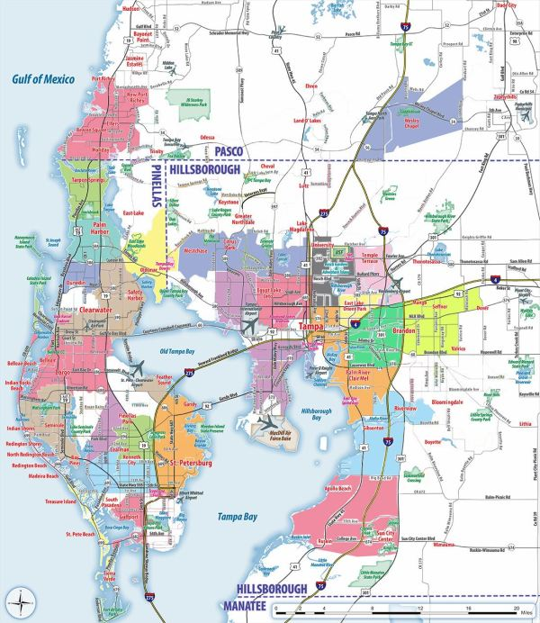 Large Tampa Maps for Free Download and Print High