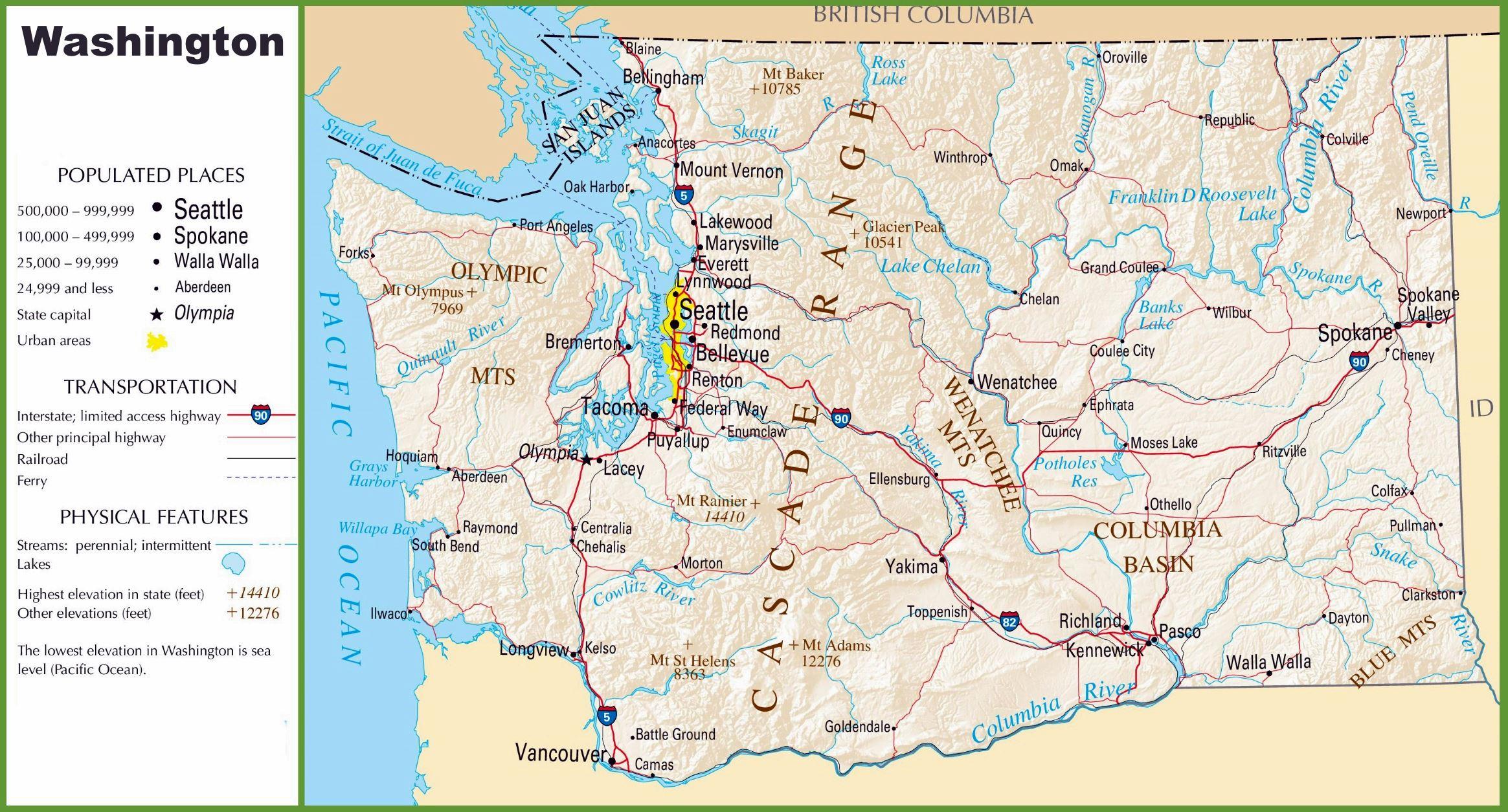 Top Printable Map Of Washington Dc
