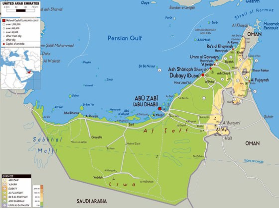 Large Abu Dhabi Region Maps for Free Download and Print