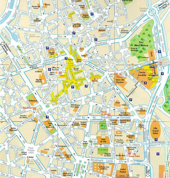 Large Lille Maps for Free Download and Print High