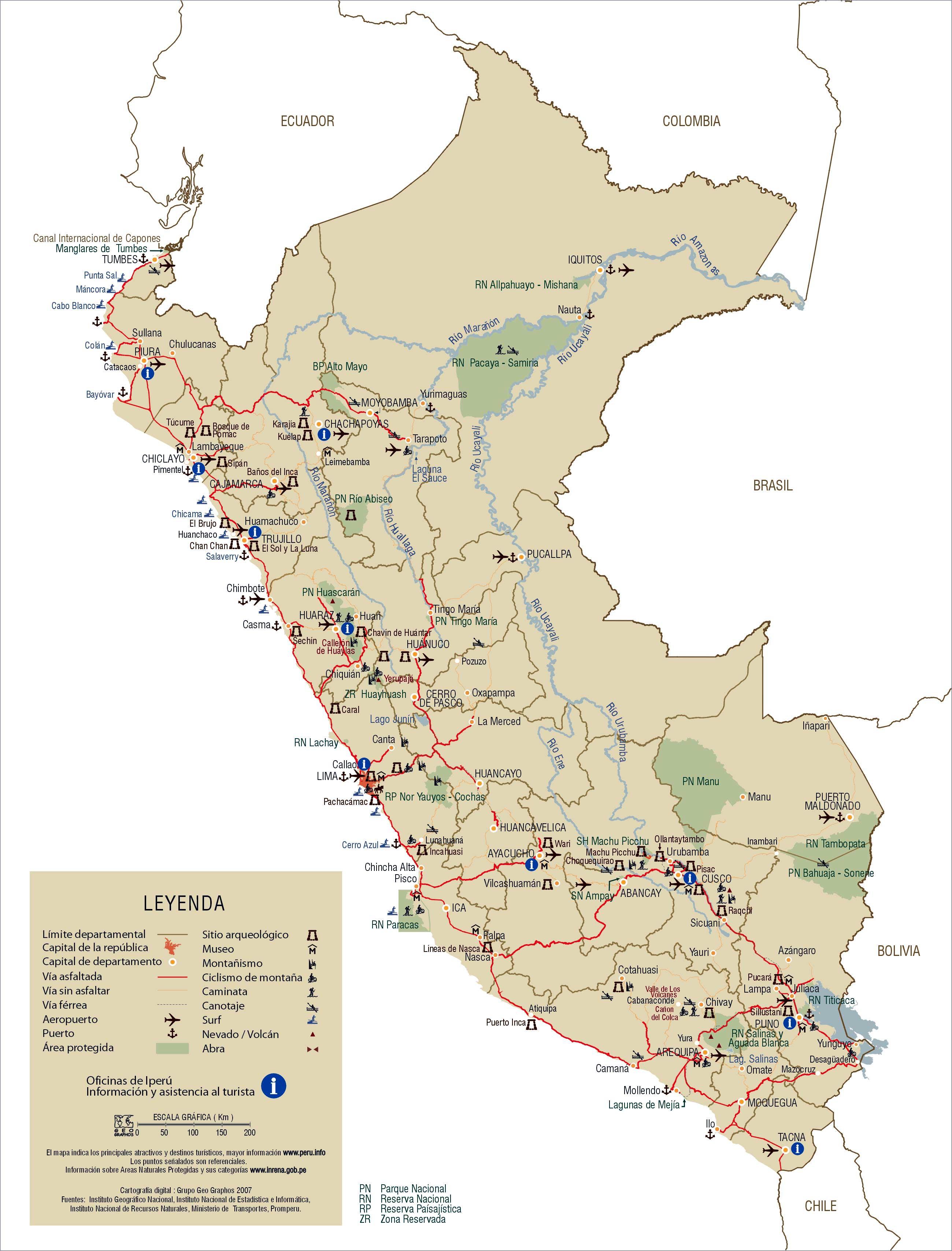 Peru Maps | Printable Maps of Peru for Download