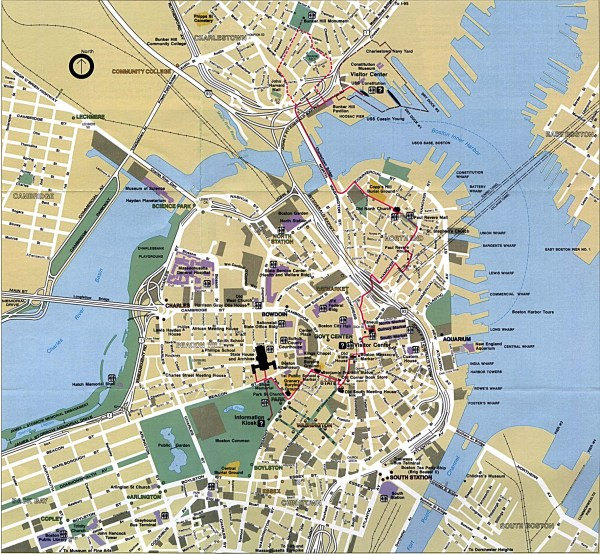 Boston Map Detailed City and Metro Maps of Boston for