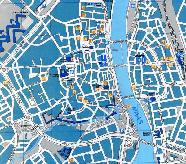 Maastricht Map Detailed City and Metro Maps of