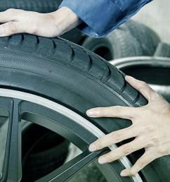 garage worker with a wheel at orange tyres uttoxeter [ 1200 x 695 Pixel ]