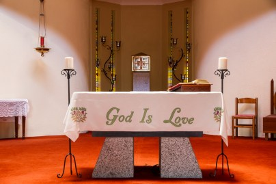 Altar in Maree's Church