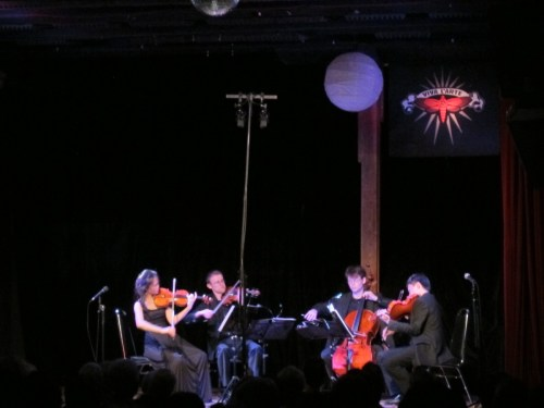 The Amphion Quartet plays the Someday Lounge.
