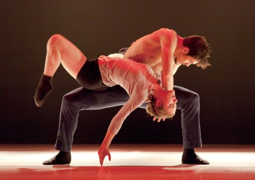 Andrea Parson and Elijah Labay of Northwest Dance Project. Photo: Blaine Truitt Covert.