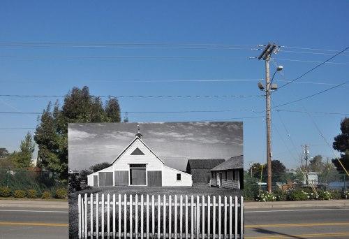 Todd Johnson, untitled composite photograph (Ansel Adams, landscape 1)