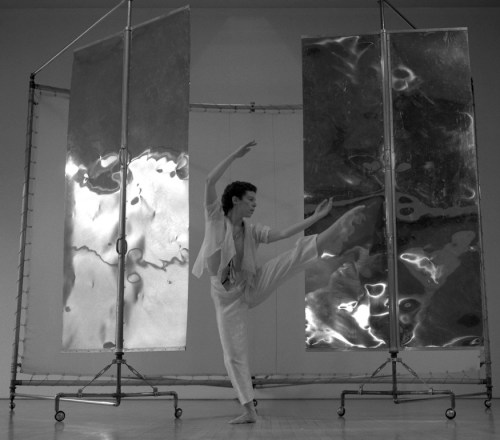 Jann Dryer dancing circa 1980; set by Henk Pander