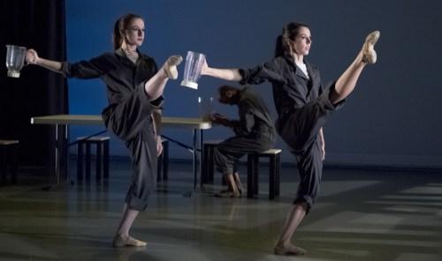 "Katie Staszkow, Anna Marra in Anne Mueller's ""Tuesday, 3:47 p.m."" Photo: Blaine Truitt Covert"