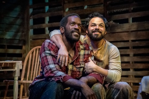"Don Kenneth Mason, Ben Newman in ""Blood Knot."" Photo: Jamie Bosworth"