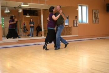 Students at all levels get used to practicing the walk, over and over, and over, again. Here at Dance with Joy Studios.