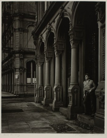 "Minor White, ""Arches of the Dodd Building (Southwest Front Avenue and Ankeny Street,"" 1938. Gelatin silver print. Fine Arts Program, Public Buildings Service, U.S. General Services"