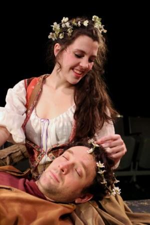 Clara Hillier as Mopsa and Tom Walton as Clown/Northwest Classica Theatre Company