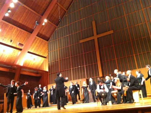 Ethan Sperry leads several PSU choirs Friday and Sunday.
