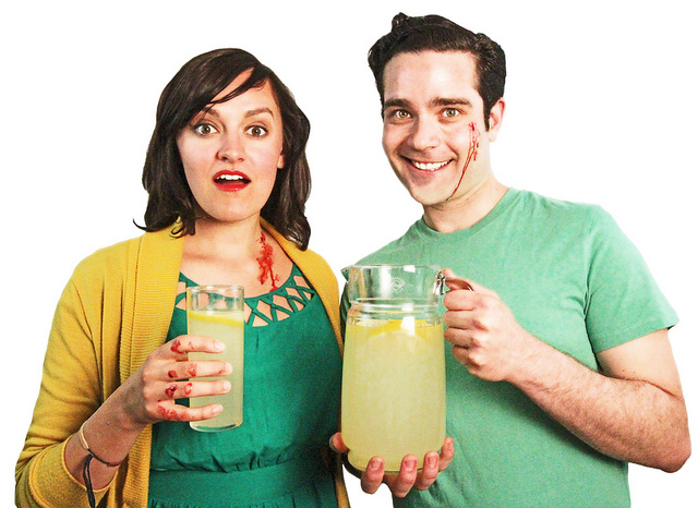 Meet Ellen and Evan. Don't they look nice? Have some lemonade.