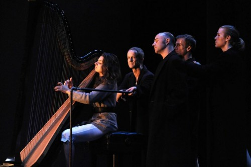 Harpist Bridget Kibbey: Nearer my God. Photo: David Krebs