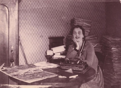 Kay Boyle in her Paris writing room, 1930s