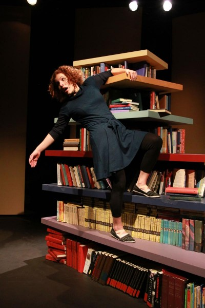 "Camille Cettina rocks the books in ""Dreamboat."" Photo: Gary Norman"