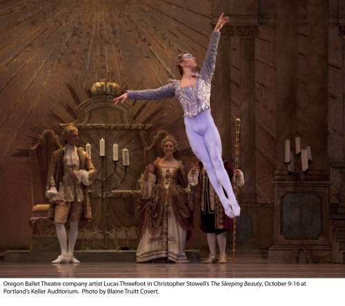 "Threefoot soars in Stowell's ""The Sleeping Beauty."" Photo: Blaine Truitt Covert"