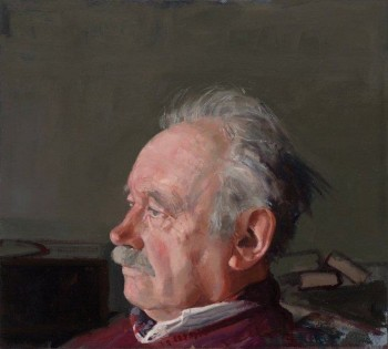 """""""Portrait of Henk Pander,"""" Pieter Pander, oil on panel, approx. 15 x 15 inches, 2013"""