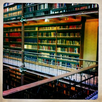 A section of the massive museum library. Photo: Henk Pander