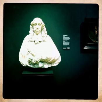 "Floating image: Artus Quellinus's newly installed 1665 marble ""Portrait of Johan de Witt."" Photo: Henk Pander"