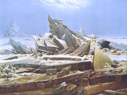 """The Sea of Ice,"" Caspar David Friederich, 1823-24, oil on canvas, Kunsthalle Hamburg"