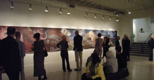 Opening crowd at Stotik exhibit. Photo courtesy Laura Russo Gallery