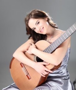 Ana Vidovic performs Friday at Marylhurst University.