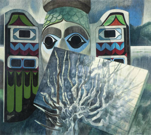 Carl Hall, 'Fog Totem Woman'/Permanent collection/Hallie Ford Museum