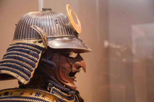 Power & glory, helmet & mask. Photo: Portland Art Museum