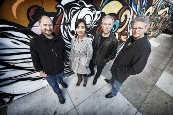 Kronos Quartet comes to Reed College Wednesday. Photo: Jay Blakesberg.