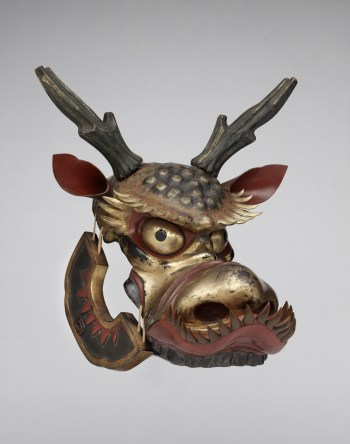 Horse mask (bamen) Late Edo period, 19th century Leather, metal, lacquer Photograph by Brad Flowers © The Ann & Gabriel Barbier-Mueller Museum, Dallas