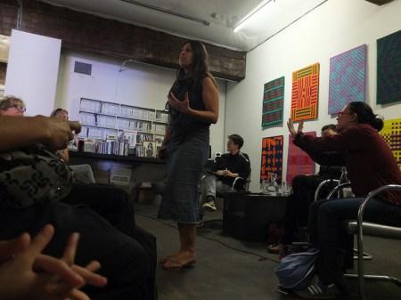Angela Mattox at a TBA:13 Conversation/Gordon Wilson