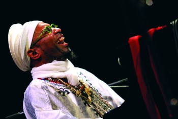 Omar Sosa performs Tuesday night at Portland's Mission Theater. Photo: Yannick Perrin.