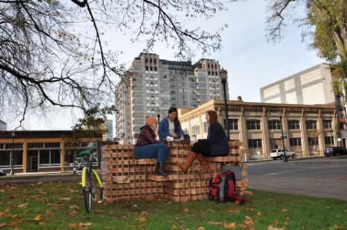 """Bridging"" on the North Park Blocks/Photo by Sabina Samiee"