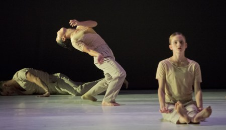 Franco Nieto, Ching Ching Wong, Andrea Parson; NW Dance Project. Photo: Blaine Truitt Covert