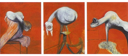"Francis Bacon, ""Three Studies for Figures at the Base of a Crucifixion,"" 1944/Tate Museum"