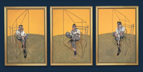 "Francis Bacon, ""Three Studies of Lucian Freud,"" 1969"
