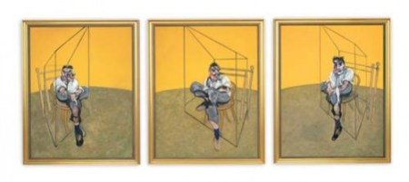 "Francis Bacon, ""Three Studies of Lucian Freud""/Portland Art Museum"