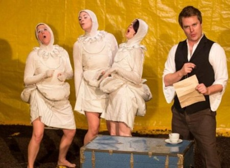 Portland Experimental Theatre Ensemble, here in 'Song of the Dodo,'  was funded for its version of Chekhov's 'Three Sisters.'/Gary Norman