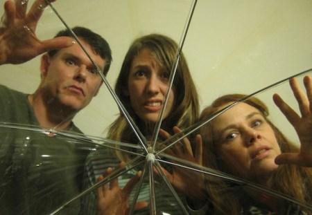 Last year's photo, same faces: actors Garland Lyons, Katie Watkins and Rosalind Fell.