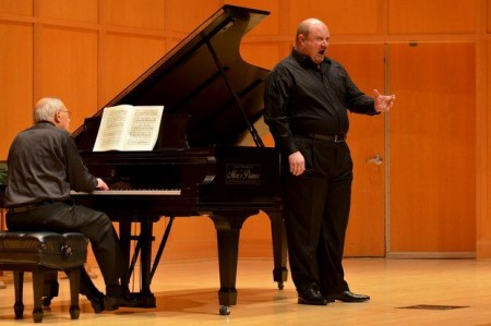 Randall Scarlata and Gilbert Kalish performed at Chamber Music Northwest's Winter Festival. Photo: Jonathan Lange.