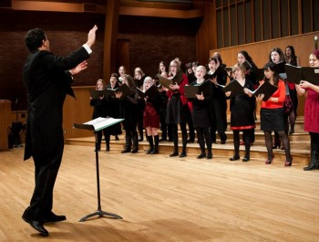 Ethan Sperry conducts Vox Femina and other PSU choirs this weekend.