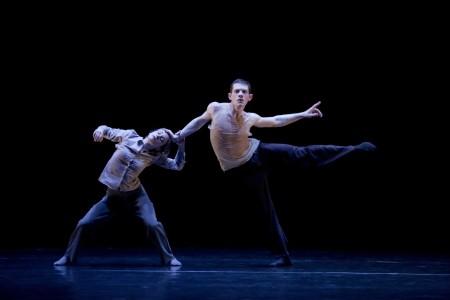 """Andrea Parson and Patrick Kilbane in Patrick Delcroix's """"Harmonie Défigurée."""" Photo: Blaine Truitt Covert"""