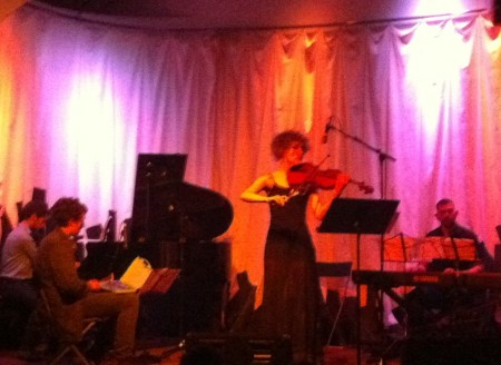 Musicians from Classical Revolution PDX performed at Holocene in March Music Moderne